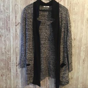 DKNY Open Knit Cardigan Sweater